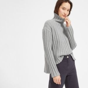 The Wool-Cashmere Rib Oversized Turtleneck
